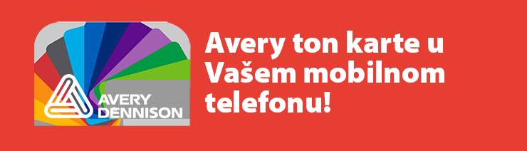Avery ton karte u Vašem mobilnom telefonu!
