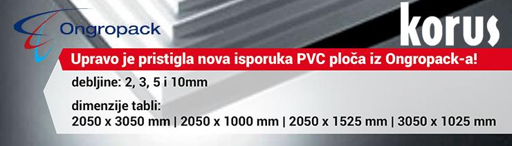 Upravo je pristigla nova isporuka PVC ploča