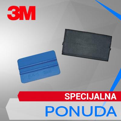 3M PA1-B plavi rakel + pamučna navlaka