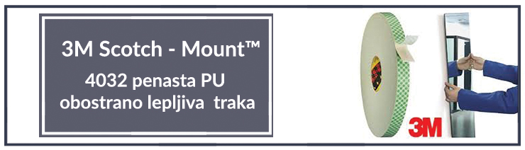 4032 penasta PU obostrano lepljiva (duplofan) traka